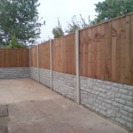 4 foot fence panels on Concrete gravel board in Beeston