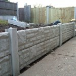 Short Concrete Gravel board fence in Arnold
