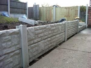 Concrete Gravel board fence in Arnold