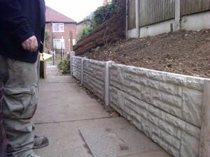 concrete gravel board fence