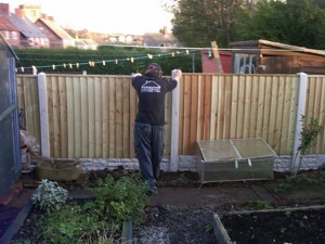 New Fence in Bestwood Park Nottingham